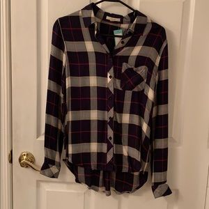 Flannel button up top